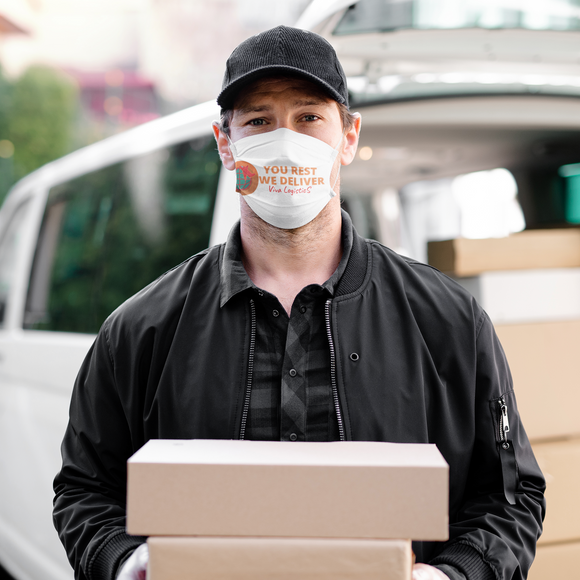 Logistics logo face masks multiple use