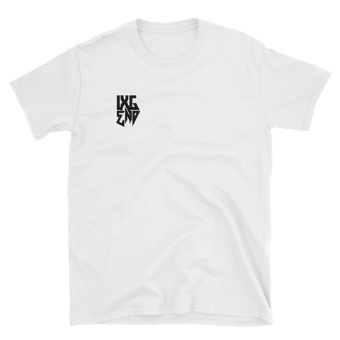 """LXGEND"" White Short-Sleeve Unisex T-Shirt"