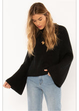 Load image into Gallery viewer, LUCCA LS KNIT SWTR BLK
