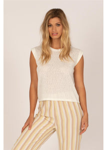 CHLOE S/S KNIT TOP-CBL