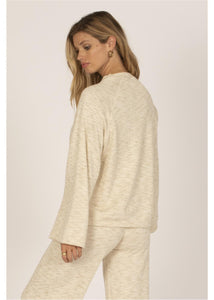 OUT OF OFFICE L/S KNIT FLEECE TOP-CBL