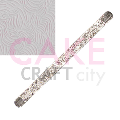 Long Fur Texture Embossing Acrylic Rolling Pin sugarcraft cake decorating