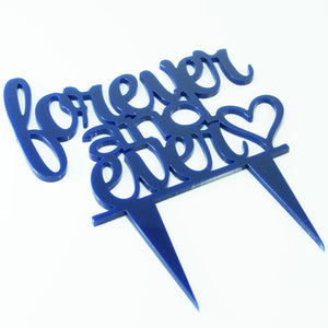 Forever Ever Proposal Wedding Engagment Cake Decoration Topper Mirror written