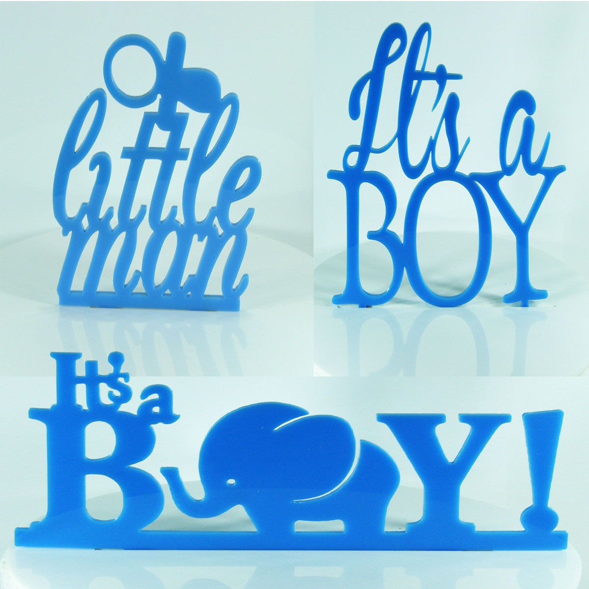 Its a Boy Cake Topper Baby Shower Decoration Birthday Christening