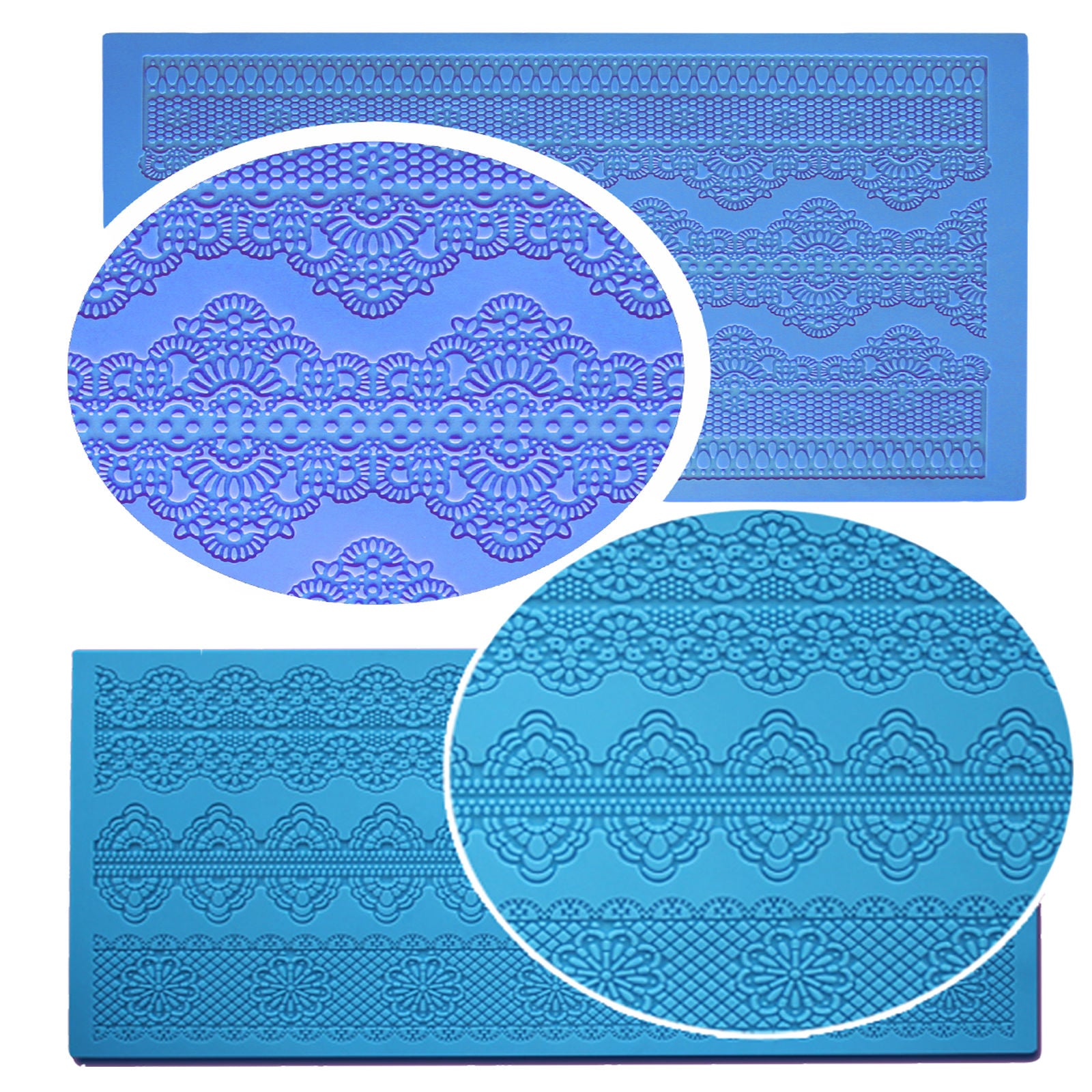 Silicone Cake Decorating Lace Icing Impression Mat For Creating Edible Lace