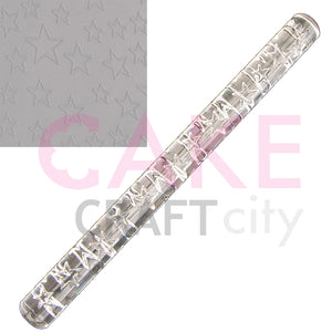 Large Stars effect Texture Embossing Acrylic Cake Decorating Rolling Pin