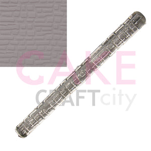 Large Dry Stone Wall - Castle effect Texture Embossing Rolling Pin Cake icing