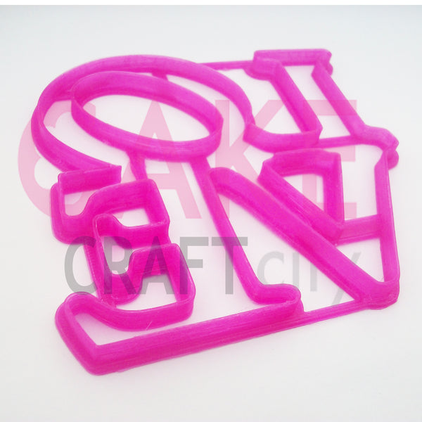 LOVE Fondant - Cookie Cutter For Cake Decorating icing Fondant