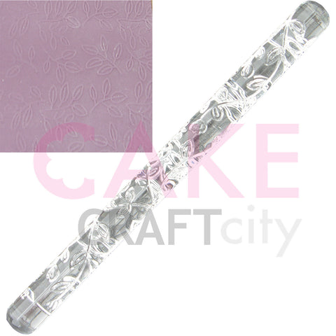 Leaf Branch effect Texture Embossing Acrylic Rolling Pin cake decorating