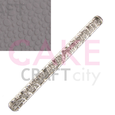 Large Cobblestone effect Texture Embossing Acrylic Cake Decorating Rolling Pin