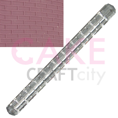 Brick effect Texture Embossing Acrylic Rolling Pin sugarcraft cake decorating