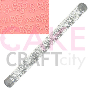 Entwined Swirls effect Texture Embossing Acrylic Rolling Pin cake decorating