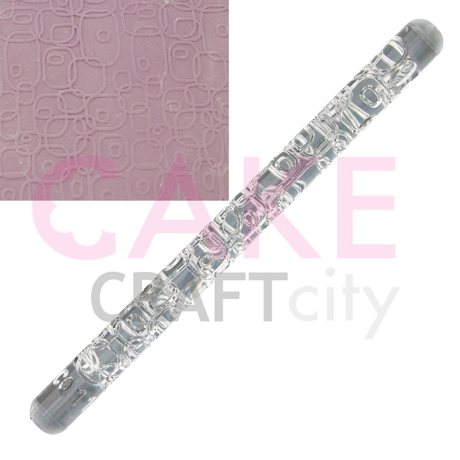Bubble Box effect Texture Embossing Acrylic Rolling Pin cake decorating Fondant