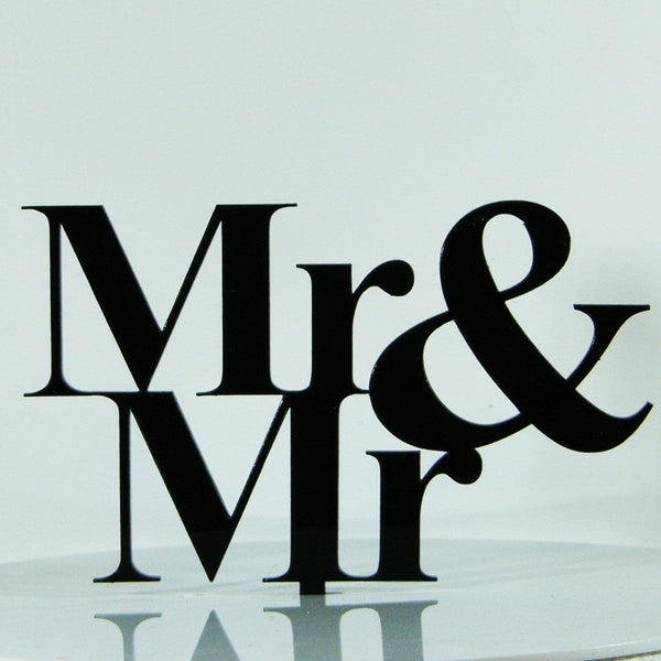 Same Sex Mr Gay Proposal Wedding Engagement Cake Decoration Topper Acrylic
