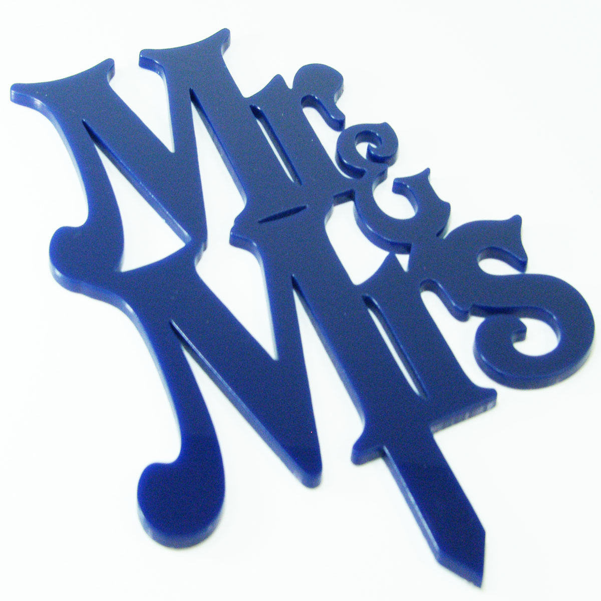 Mr and Mrs Curly Proposal Wedding Engagement Cake Decoration Topper Acrylic