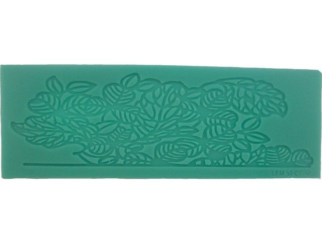 Floral Border Silicone Lace Confectioners Mat, for Cake Decorating Icing Border