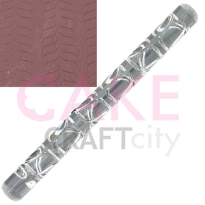 Pair line Waves effect Texture Embossing Acrylic Rolling Pin cake decorating