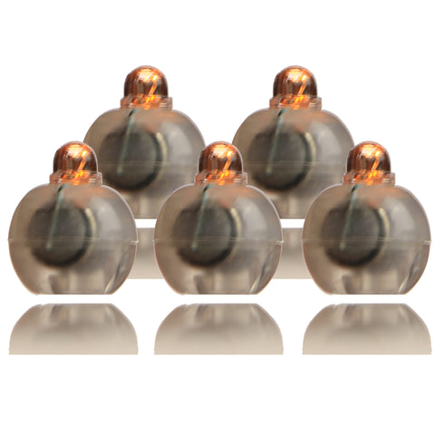 Amber Mini LED battery operated (no wires) lights pack of 5, Perfect for Cake lights illumination