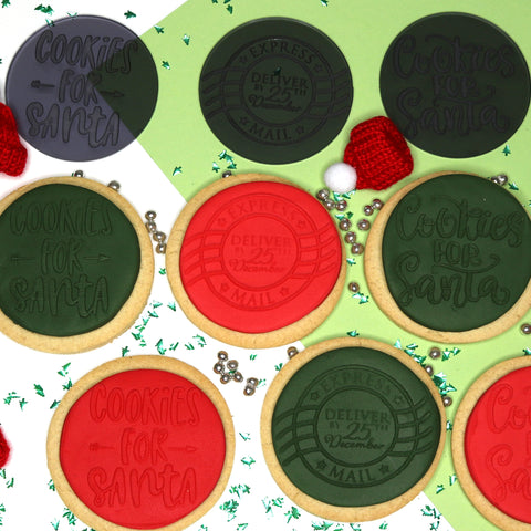 imPRESSed® Christmas Cookie Fondant Embosser - Cookies For Santa Set of 3 Designs