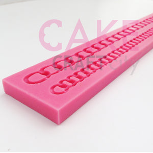 Double Chain Cake Decoration Silicone Mould for Cake Decorating Fondant icing