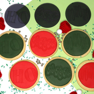 imPRESSed® Christmas Cookie Fondant Embosser - HOHOHO Set of 3 Designs