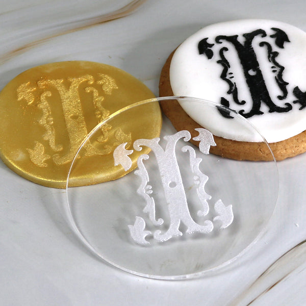 imPRESSed® Monogram Style Letters to Create Beautiful Cupcake Toppers and Cookie Messages