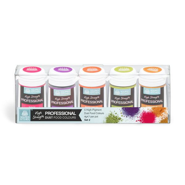 Squires Kitchen Professional Food Dust Colour Dust Set 2