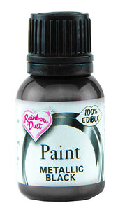 Rainbow Dust Metallic-Pearlescent Edible Food Paint - Black