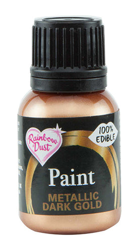 Rainbow Dust Metallic-Pearlescent Edible Food Paint - Dark Gold