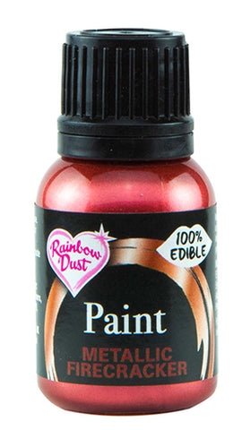 Rainbow Dust Metallic-Pearlescent Edible Food Paint - Firecracker