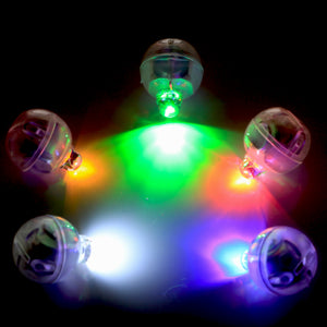 Multi Coloured Disco Mini LED battery operated (no wires) lights pack of 5, Perfect for Cake lights illumination