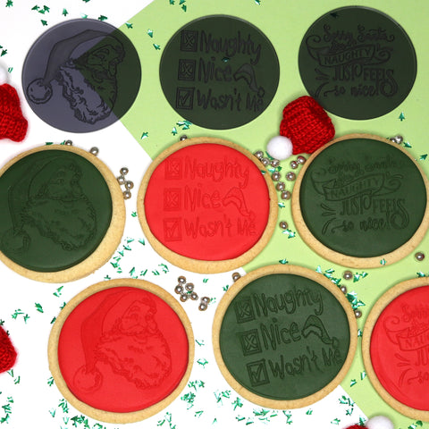 imPRESSed® Christmas Cookie Fondant Embosser - Naughty Nice Set of 3 Designs