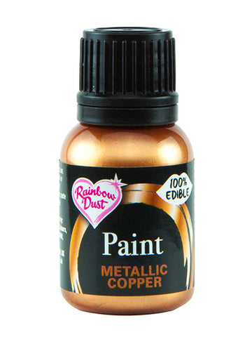 Rainbow Dust Metallic-Pearlescent Edible Food Paint - Copper