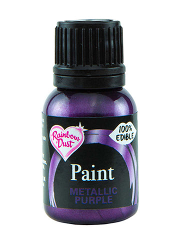 Rainbow Dust Metallic-Pearlescent Edible Food Paint - Purple
