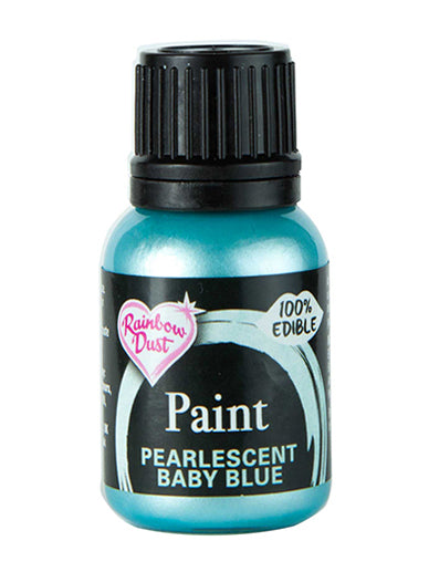 Rainbow Dust Metallic-Pearlescent Edible Food Paint - Baby Blue
