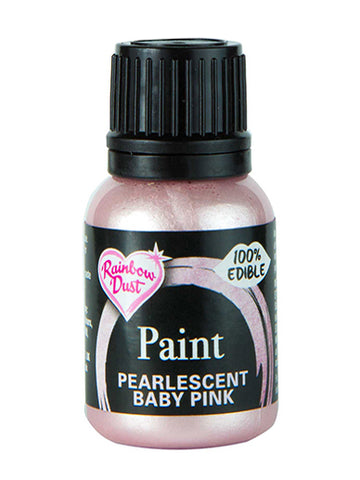 Rainbow Dust Metallic-Pearlescent Edible Food Paint - Baby Pink