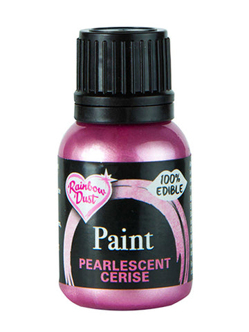 Rainbow Dust Metallic-Pearlescent Edible Food Paint - Cerise