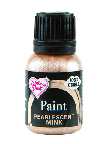 Rainbow Dust Metallic-Pearlescent Edible Food Paint - Mink