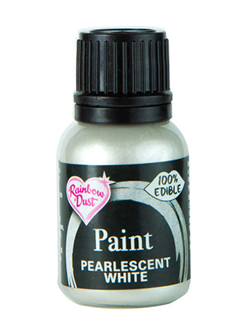 Rainbow Dust Metallic-Pearlescent Edible Food Paint - White