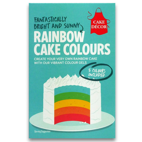 CAKE DÉCOR RAINBOW CAKE COLOUR GELS