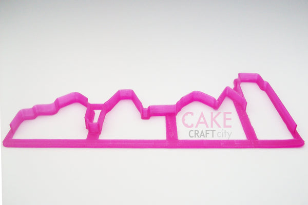 Skyline Fondant - Cookie Cutter For Cake Decorating icing Fondant
