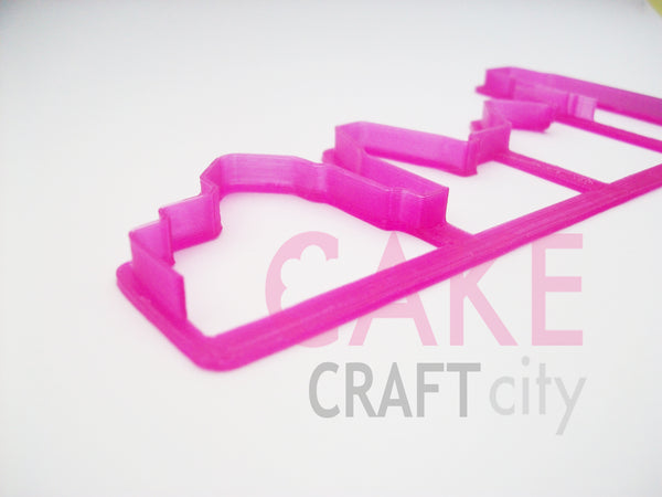 City Skyline Fondant - Cookie Cutter For Cake Decorating icing Fondant