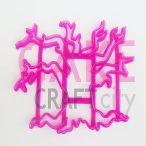 Spooky Tree Fondant - Cookie Cutter For Cake Decorating icing Fondant