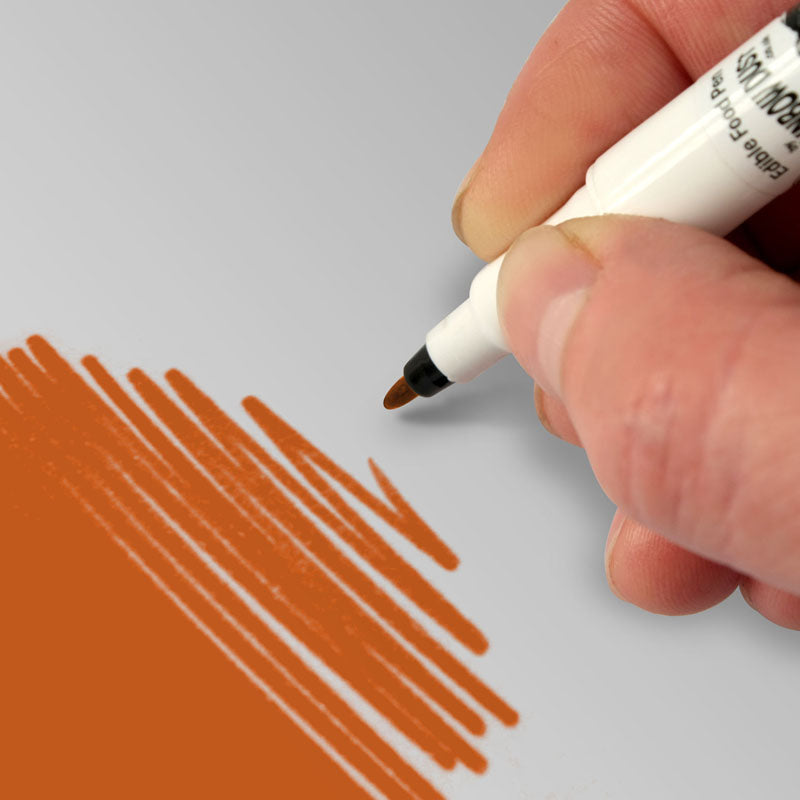 Rainbow Dust Food Art Pen - Orange