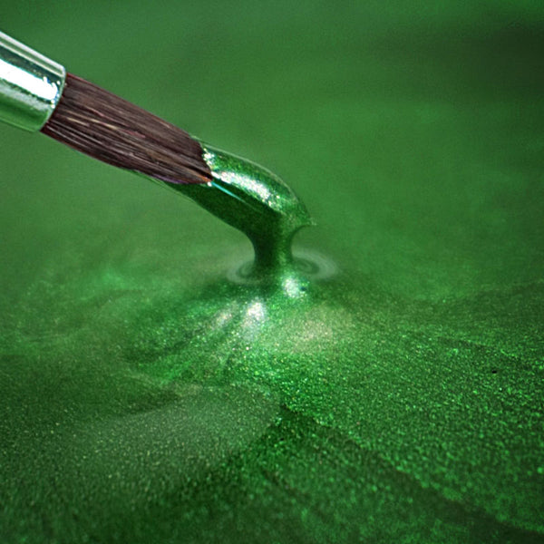 Rainbow Dust Metallic-Pearlescent Edible Food Paint - Holly Green