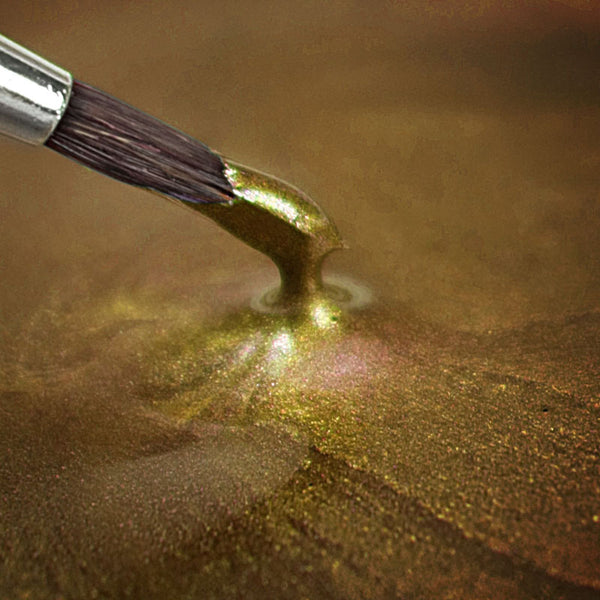 Rainbow Dust Metallic-Pearlescent Edible Food Paint - Light Gold