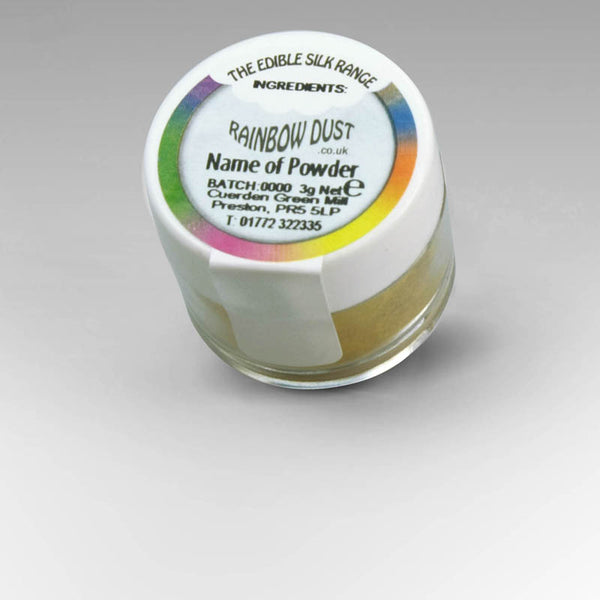 RAINBOW DUST - EDIBLE SILK - Iridescent Green Fusion