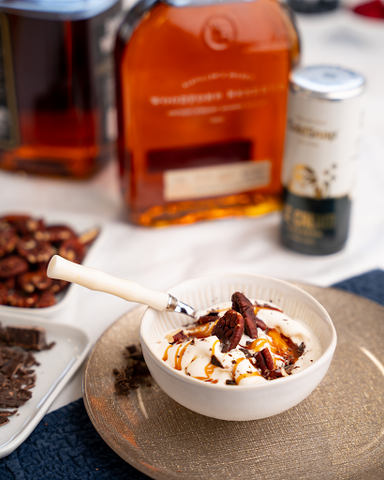 Bourbon Ice Cream packed with flavor and ready for your favorite toppings