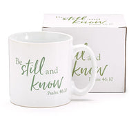 Religious coffee mug, Be still and know psalm 46:10 | New Gen Crafts