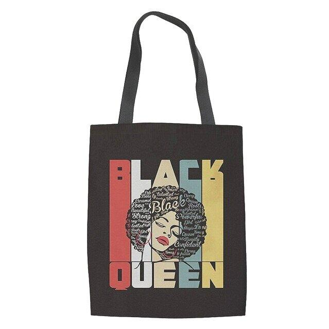 Canvas Tote Bag, Multi Purpose Tote, Eco Friendly Bag, Canvas Bag, Black Pride Bag, Gift For Her - New Gen Crafts